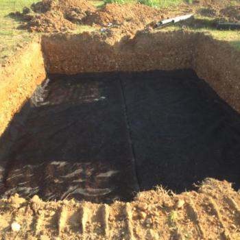 Terrassement pour filtre a sable a jarcieu